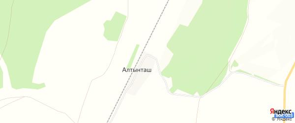 Карта деревни Алтынташа в Башкортостане с улицами и номерами домов