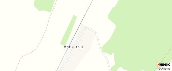 Улица Железнодорожников на карте деревни Алтынташа с номерами домов