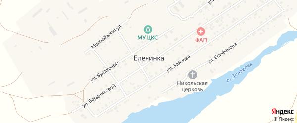 Лесная улица на карте села Еленинки с номерами домов