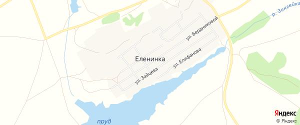 Карта села Еленинки в Челябинской области с улицами и номерами домов