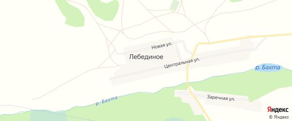 Карта Лебединого села в Челябинской области с улицами и номерами домов