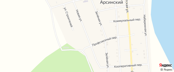 Новая улица на карте Арсинского поселка с номерами домов