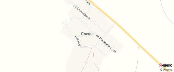 Новая улица на карте деревни Слюды с номерами домов