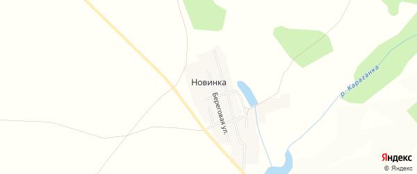 Карта поселка Новинки в Челябинской области с улицами и номерами домов