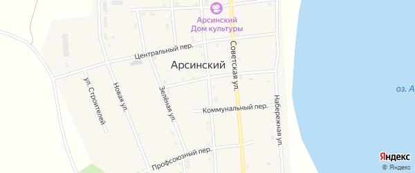 Улица Мира на карте Южного поселка с номерами домов