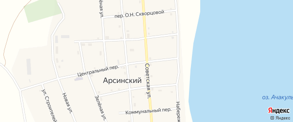 Советская улица на карте Южного поселка с номерами домов