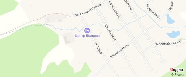 Улица Труда на карте села Сыростана с номерами домов