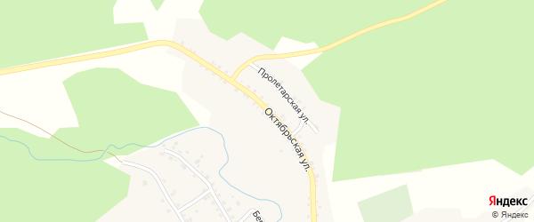 Октябрьская улица на карте села Сыростана с номерами домов