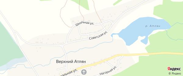 Советская улица на карте поселка Верхнего Атляна с номерами домов