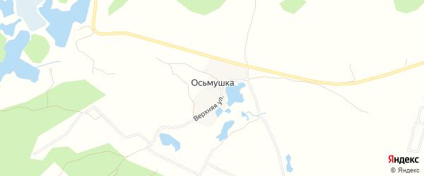 Карта поселка Осьмушки города Миасса в Челябинской области с улицами и номерами домов