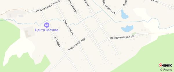 Атлянский переулок на карте села Сыростана с номерами домов