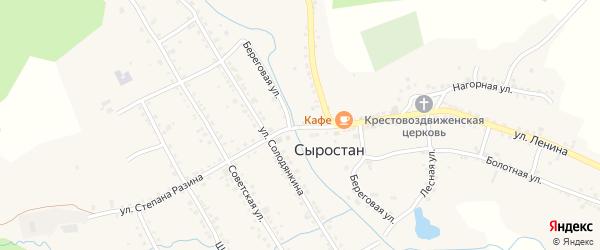 Первомайская улица на карте села Сыростана с номерами домов