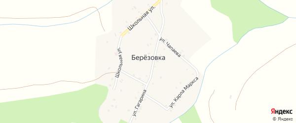 Улица Чапаева на карте поселка Березовки с номерами домов