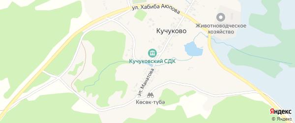 Улица Хандугас на карте деревни Кучуково с номерами домов
