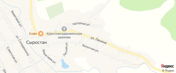 Улица Ленина на карте села Сыростана с номерами домов