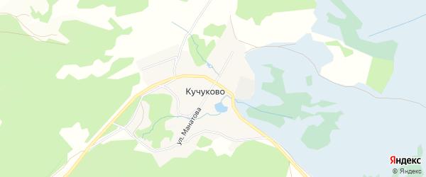 Карта деревни Кучуково в Башкортостане с улицами и номерами домов