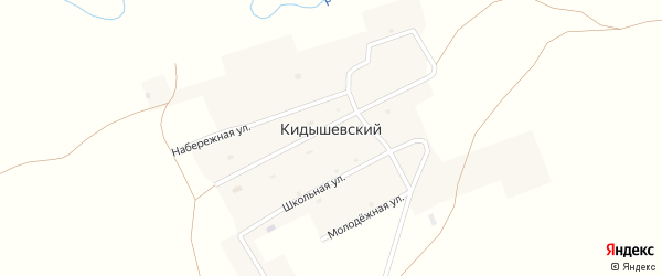 Центральная улица на карте Кидышевского поселка с номерами домов