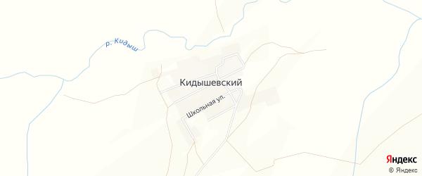 Карта Кидышевского поселка в Челябинской области с улицами и номерами домов