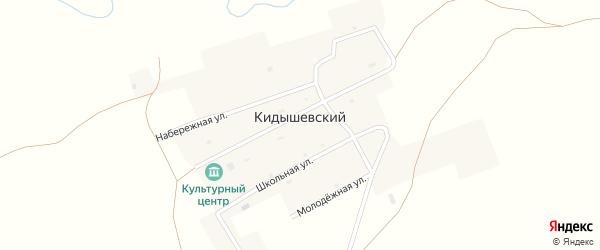 Набережная улица на карте Кидышевского поселка с номерами домов