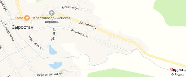 Болотная улица на карте села Сыростана с номерами домов
