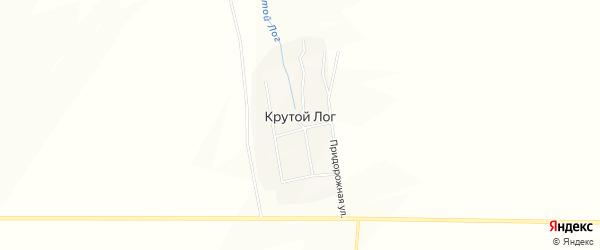 Карта поселка Крутого Лога в Челябинской области с улицами и номерами домов