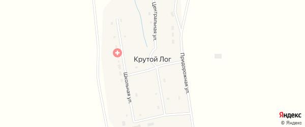 Школьный переулок на карте поселка Крутого Лога с номерами домов