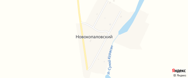 Советский переулок на карте Копаловского поселка с номерами домов