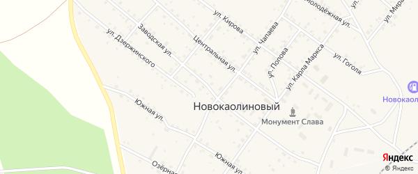 Заводская улица на карте Новокаолинового поселка с номерами домов