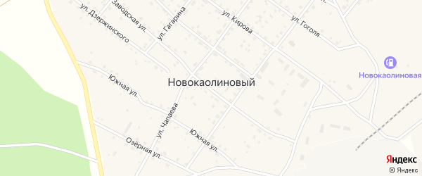 Полевая улица на карте Новокаолинового поселка с номерами домов