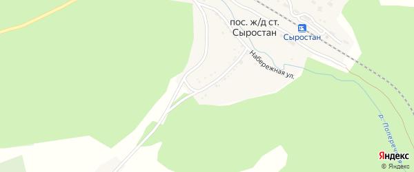 Улица 60 лет Октября на карте железнодорожной станции Сыростана с номерами домов