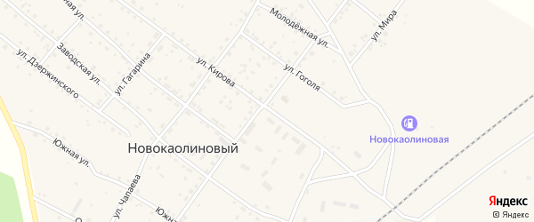 Улица Карла Маркса на карте Новокаолинового поселка с номерами домов