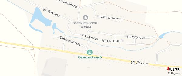 Улица Суворова на карте деревни Алтынташа с номерами домов