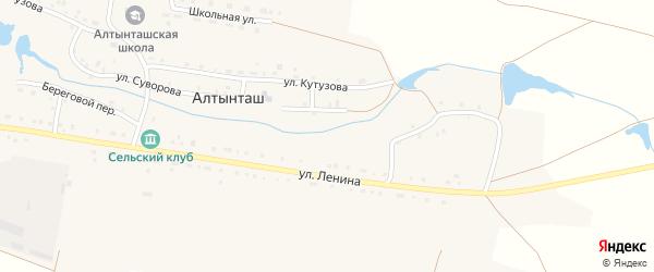 Береговой переулок на карте деревни Алтынташа с номерами домов
