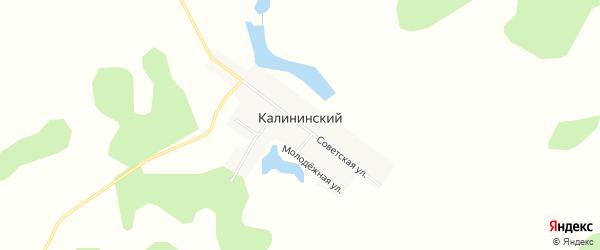 Карта Калининского поселка в Челябинской области с улицами и номерами домов