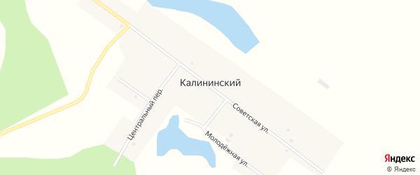 Южный переулок на карте Калининского поселка с номерами домов