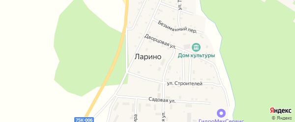 Переулок Мельница на карте села Ларино с номерами домов