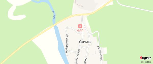 Набережная улица на карте поселка Уфимки с номерами домов