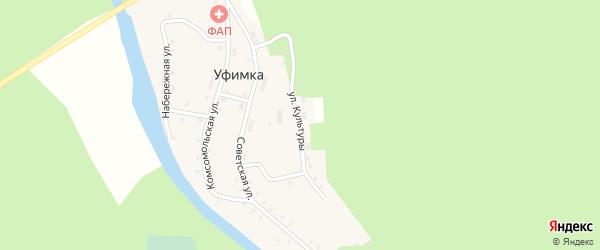 Улица Культуры на карте поселка Уфимки с номерами домов