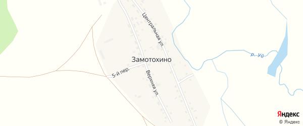4-й переулок на карте деревни Замотохино с номерами домов