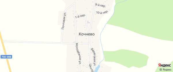 12-й переулок на карте деревни Кочнево с номерами домов