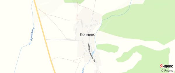Карта деревни Кочнево в Челябинской области с улицами и номерами домов