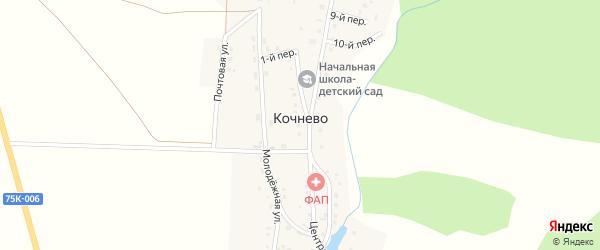 Почтовая улица на карте деревни Кочнево с номерами домов