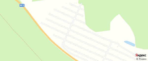 Сад СНТ Родничок на карте Миасса с номерами домов