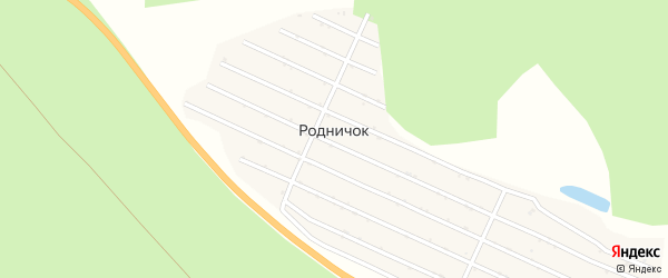 Сад СНТ Родничок на карте Челябинска с номерами домов