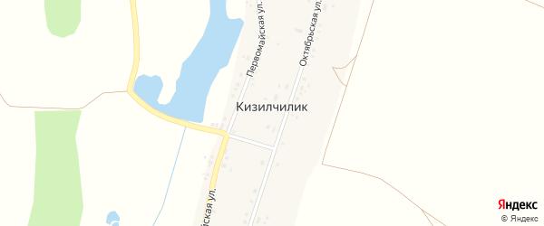 Первомайская улица на карте села Кизилчилика с номерами домов