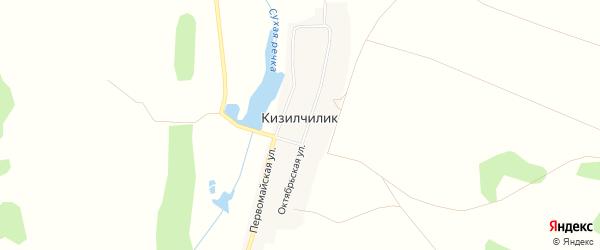 Карта села Кизилчилика в Челябинской области с улицами и номерами домов