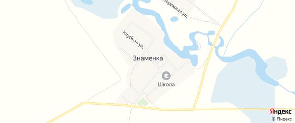 Карта поселка Знаменки в Челябинской области с улицами и номерами домов
