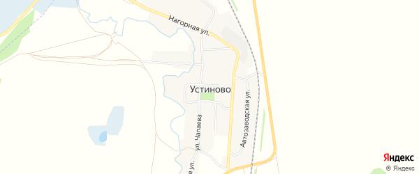 Карта села Устиново города Миасса в Челябинской области с улицами и номерами домов