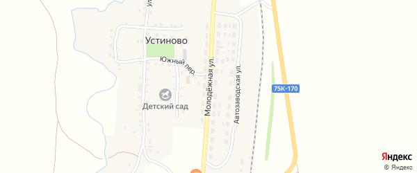 Молодежная улица на карте села Устиново с номерами домов