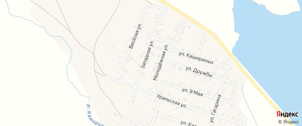 Западная улица на карте Уйского села с номерами домов